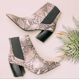Shoes - Feelin' Wild | Snake Print Booties